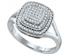 Ladies Diamond Fashion Ring 10K White Gold 0.33 cts. GD-64881