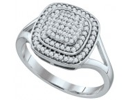 Ladies Diamond Fashion Ring 10K White Gold 0.33 cts. GD-64881 [GD-64881]