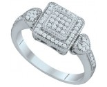 Ladies Diamond Fashion Ring 10K White Gold 0.20 cts. GD-64897