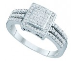 Ladies Diamond Fashion Ring 10K White Gold 0.25 cts. GD-65051