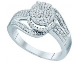 Ladies Diamond Fashion Ring 10K White Gold 0.38 cts. GD-65178