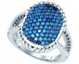 Blue Diamond Fashion Band 10K White Gold 1.19 cts. GD-65246