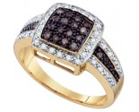 Cognac Diamond Fashion Ring 14K Yellow Gold 0.50 cts. GD-66786