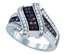 Ladies Diamond Fashion Band 10K White Gold 0.55 cts. GD-65251
