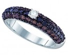 Ladies Diamond Fashion Ring 10K White Gold 1.16 cts. GD-65254