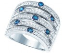Blue Diamond Fashion Band 10K White Gold 0.83 cts. GD-65666