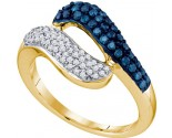 Blue Diamond Fashion Ring 10K Yellow Gold 0.50 cts. GD-65826
