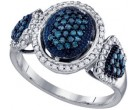 Ladies Diamond Fashion Ring 10K White Gold 0.50 cts. GD-65979