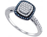 Ladies Diamond Fashion Ring 10K White Gold 0.43 cts. GD-65985 [GD-65985]