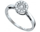 Ladies Diamond Fashion Ring 10K White Gold 0.15 cts. GD-67034