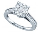 Ladies Diamond Fashion Ring 14K White Gold 0.51 cts. GD-67274