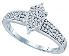 Ladies Diamond Fashion Ring 10K White Gold 0.25 cts. GD-68491