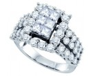 Ladies Diamond Fashion Band 14K White Gold 1.00 ct. GD-69125