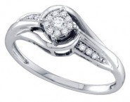 Ladies Diamond Fashion Ring 14K White Gold 0.15 cts. GD-69794