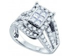 Ladies Diamond Fashion Band 14K White Gold 1.00 ct. GD-69807