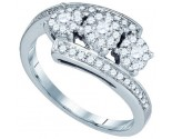 Ladies Diamond Fashion Ring 14K White Gold 0.50 cts. GD-69804