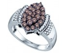 Ladies Diamond Fashion Ring 10K White Gold 1.00 ct. GD-70942