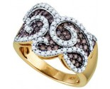Champagne Diamond Band 10K Yellow Gold 1.01 cts. GD-71274