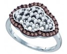 Brown Diamond Fashion Ring 10K White Gold 0.46 cts. GD-71330