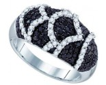 Black Diamond Fashion Ring 10K White Gold 1.13 cts. GD-71356