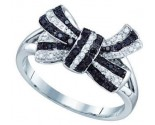 Ladies Diamond Bow Ring 10K White Gold 0.21 cts. GD-71535