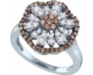 Brown Diamond Fashion Ring 10K White Gold 0.68 cts. GD-71547