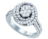 Ladies Diamond Fashion Ring 10K White Gold 1.01 cts. GD-71589