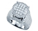 Ladies Diamond Fashion Ring 10K White Gold 1.82 cts. GD-71698