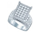 Ladies Diamond Fashion Ring 10K White Gold 1.78 cts. GD-71730