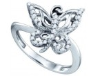 Diamond Butterfly Fashion Ring 10K White Gold 0.20 cts. GD-71850