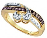 Ladies Diamond Heart Ring 10K Yellow Gold 0.26 cts. GD-71857