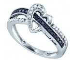 Ladies Diamond Heart Ring 10K White Gold 0.25 cts. GD-71862