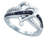 Ladies Diamond Heart Ring 10K White Gold 0.36 cts. GD-71940
