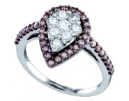 Ladies Diamond Fashion Ring 10K White Gold 0.99 cts. GD-71948 [GD-71948]