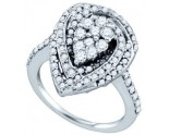 Ladies Diamond Fashion Ring 10K White Gold 1.31 cts. GD-71950