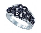 Ladies Diamond Fashion Band 10K White Gold 1.05 cts. GD-72103