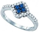 Blue Diamond Fashion Ring 10K White Gold 0.40 cts. GD-72165