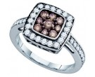 Ladies Diamond Fashion Ring 10K White Gold 1.00 ct. GD-72201