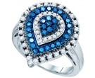 Blue Diamond Fashion Ring 10K White Gold 1.00 ct. GD-72221