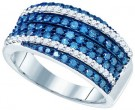 Ladies Diamond Fashion Band 10K White Gold 1.15 cts. GD-72244