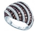 Cognac Diamond Fashion Ring 10K White Gold 1.40 cts. GD-72284