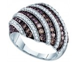 Chocolate Diamond Fashion Ring 10K White Gold 1.40 cts. GD-72284