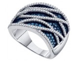 Ladies Diamond Fashion Band 10K White Gold 1.25 cts. GD-72285