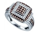 Brown Diamond Fashion Ring 10K White Gold 1.00 ct. GD-72881