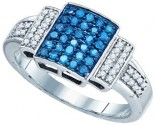 Blue Diamond Fashion Band 10K White Gold 0.50 cts. GD-72302