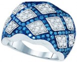 Blue Diamond Fashion Band 10K White Gold 2.00 ct. GD-72316