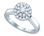 Ladies Diamond Cocktail Ring 10K White Gold 0.53 cts. GD-72369