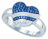 Ladies Diamond Fashion Ring 10K White Gold 0.33 cts. GD-72400