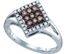 Brown Diamond Fashion Ring 10K White Gold 0.25 cts. GD-72451