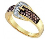 Ladies Diamond Buckle Ring 10K Yellow Gold 0.28 cts. GD-72465